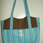 Turquoise Leopard Tote
