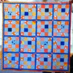 Orange & Grey Donation quilt