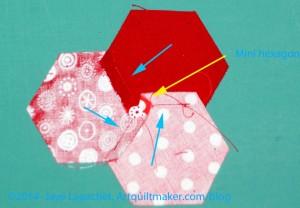 Press in a swirl to create mini hexagons
