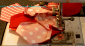 Sewing patches together