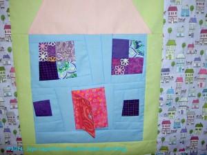 Rhonda's House Block Quilt detail