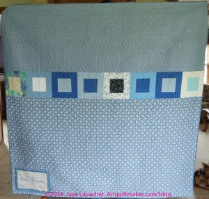 Daisy quilt back