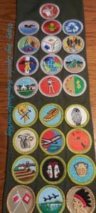 Merit Badge Sash - January 2015