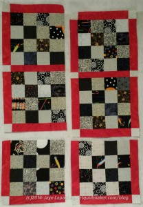 Sew the two blocks on the upper right side together.