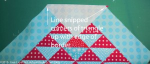 Line up triangle with borders