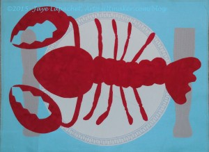 Lobster Placemat in progress