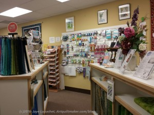 Morning Star Quilts: Purse hardware, notions/ front of store