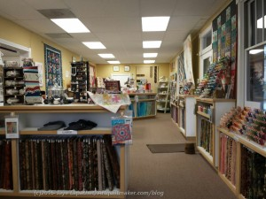 Morning Star Quilts: Front to back view / front of store