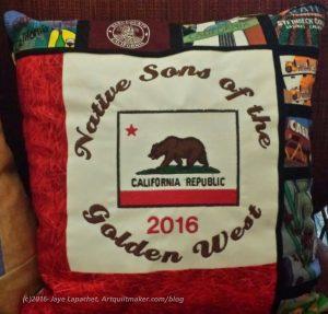 NSGW 2016 Grand Parlor California Fabric Pillow