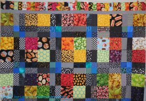 Food Quilt, top border