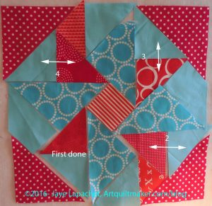 Partial Seam: Sew other like triangles