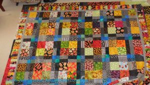 Food Quilt #3: Finished top