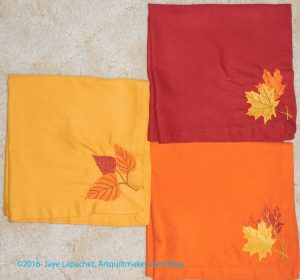 Warm leaf napkins