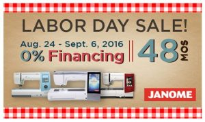 Janome Labor Day Sale