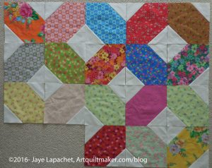 Lozenge quilt, first look
