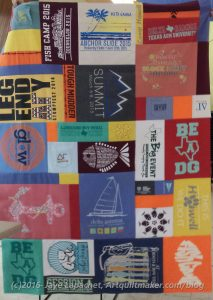 Haley's t-shirt quilt