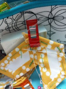 Flat back stitch using WonderClips