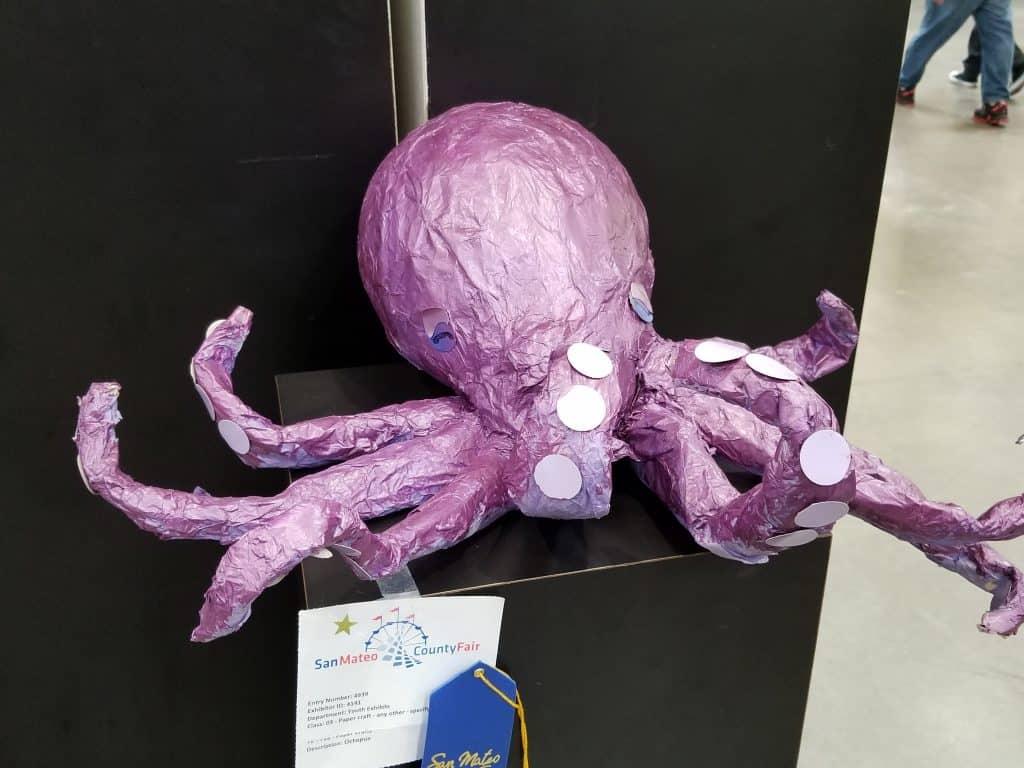 Paper mache octopus