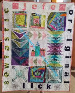 Kelly's Good-bye quilt 2017