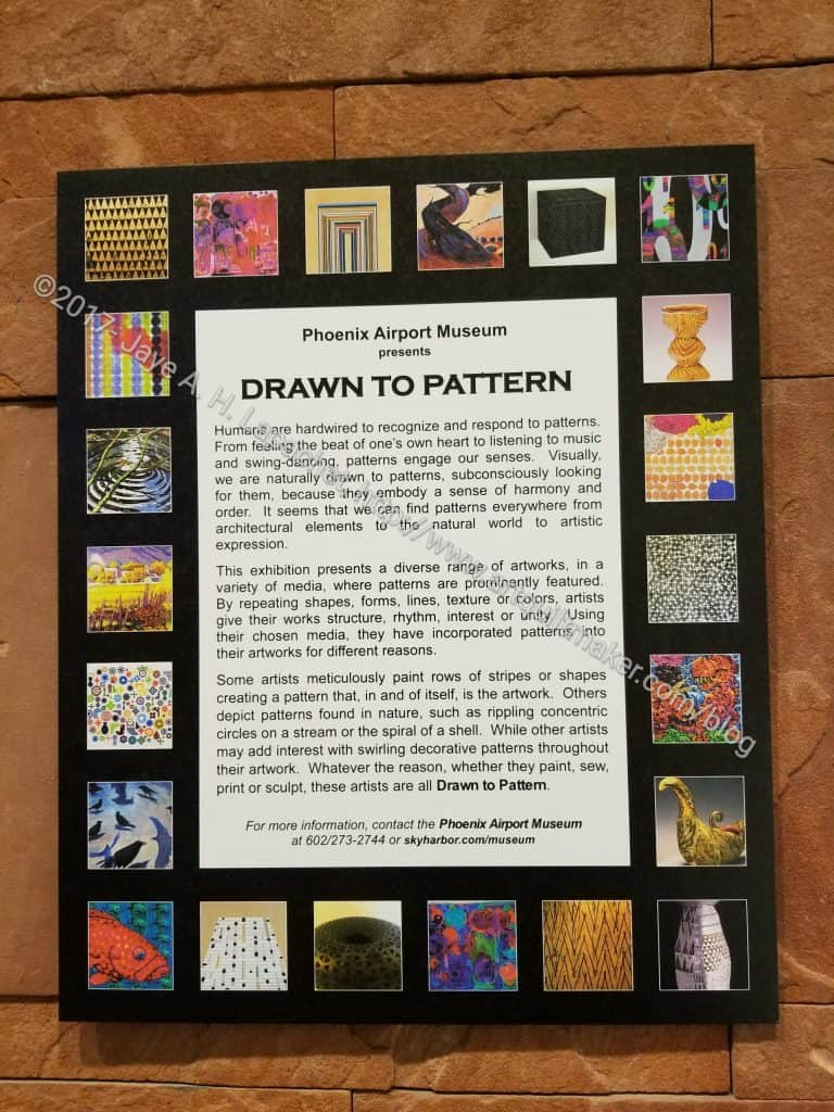 Drawn to Pattern sign