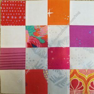 Donation block -pink/orange