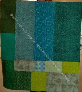 Terrain Donation Quilt back