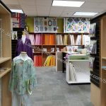 A Common Thread: fabric area with displays