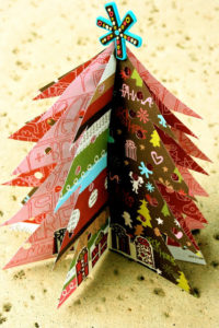 Paper Christmas Tree by Little Lovables (http://littlelovables.blogspot.com/2009/12/paper-christmas-trees.html)