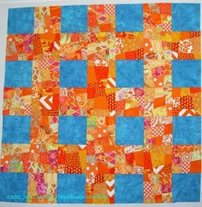 Wonky 9 Patch Sewn