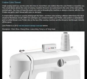 Sewing Machine Printer