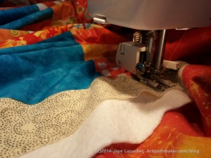 Wonky 9 Patch - quilting