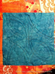 Plain block quilting