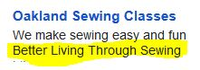 Better LivingThrough Sewing
