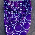 Purple Chair Bag - open