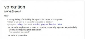 Vocation Definition from Google