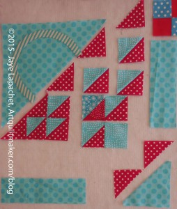 Sew 2 sets of woven basket parts together