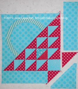Sew triangle to border