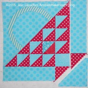 Sew on background B2/Triangle-G