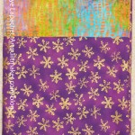 Purple, Green & Gold Pillowcase