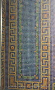 Wall tile in indoor pool