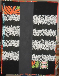 Hawaiian Quilt Back