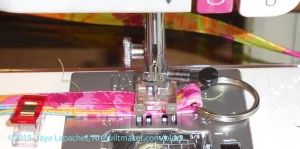 Sew on marked line
