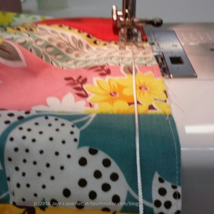 Sewing the drawstring