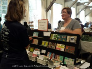 Maureen's booth at Book Arts Jam 2015