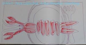 Sketchbook book lobster placemat