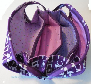 Purple Chair Sew Together Bag - open