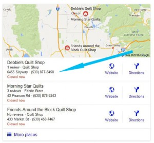 """Oroville"" Quilt Shops"