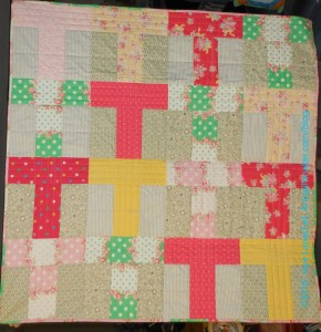 Flower Sugar Donation Quilt front