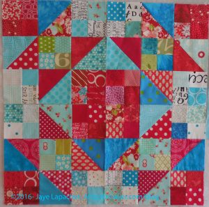 Four Stepping Stones blocks - April 2016