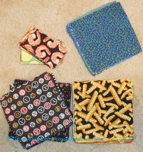 Food Quilt fabrics -cut